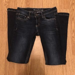Maurice's Dark Wash Low Rise Flare Jeans SHORT